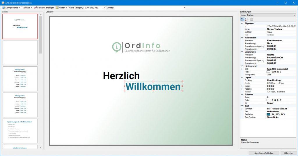 OrdInfo Designer (Seiten)
